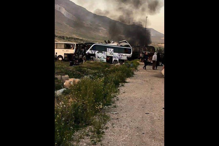 مصرع 30 شخصًا جراء حادث سير على طريق حمص دمشق في سوريا