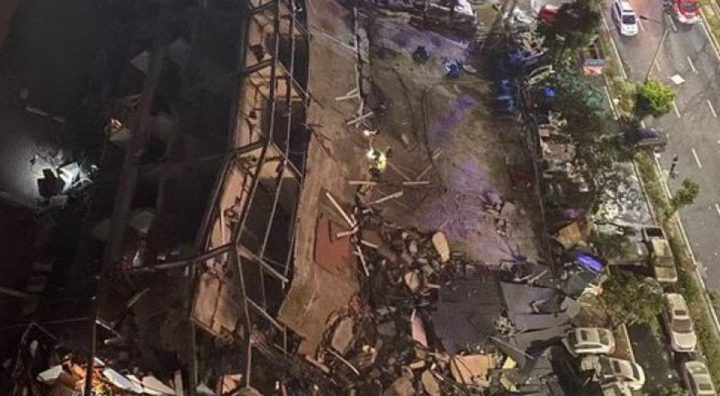 انهيار فندق يستخدم للحجر الصحي للمصابين بفيروس كورونا في الصين