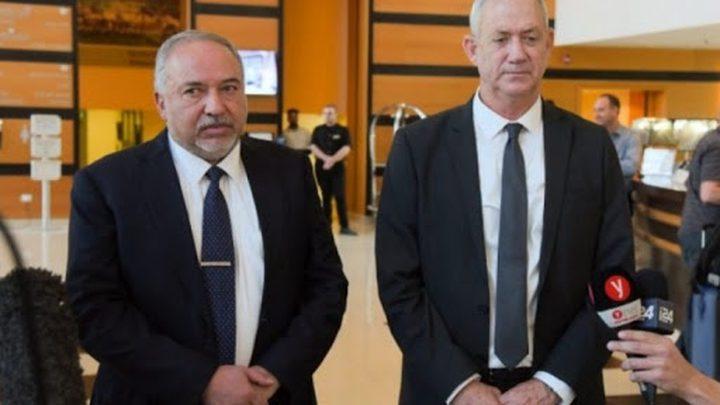 لقاء حاسم يجمعغانتس وليبرمان لتشكيل الحكومة المقبلة