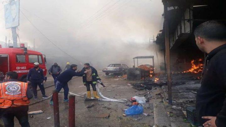 وفاة مواطن متأثراً بجروحه في حريق النصيرات