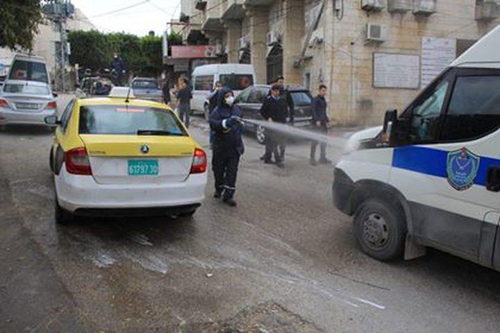 الشرطة الفلسطينية تؤمن مكان الحجر الصحي في طولكرم، يوم الثلاثاء 10\3\2020.