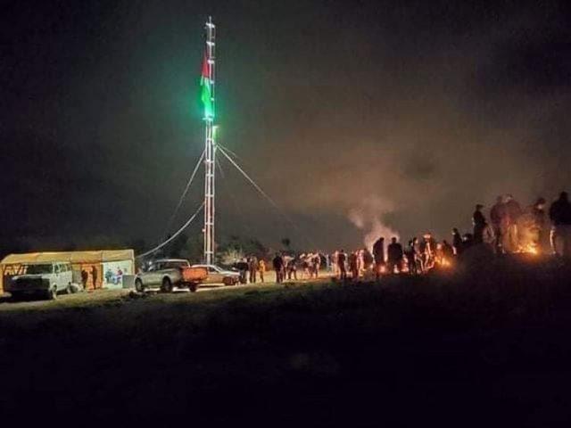 مواطنون يعتصمون فوق جبل العرمة لصد اقتحامالمستوطنين
