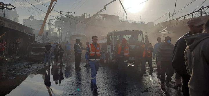 ارتفاع حصيلة شهداء حريق النصيرات إلى 18 شهيدًا