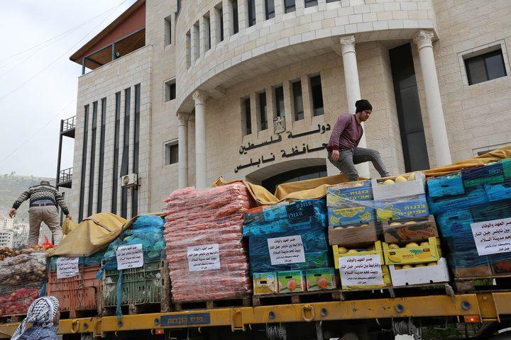 قافلة مساعدات من نابلس إلى بيت لحم