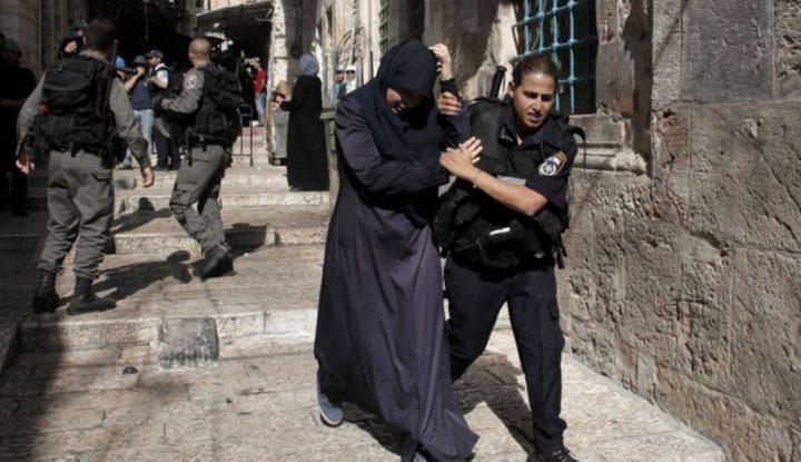 شرطة الاحتلال تعتقل شابة من محيط باب الرحمة في الأقصى