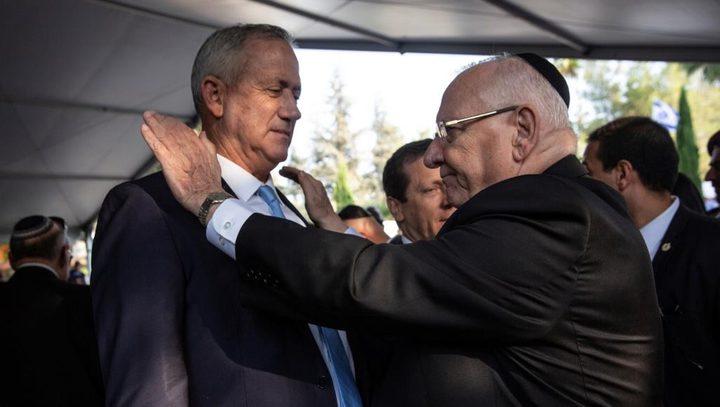 ريفلين يُكلف غانتس غدًا بتشكيل حكومة الاحتلال المُقبلة