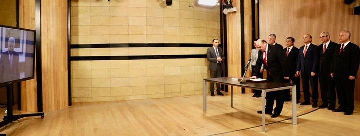 مجلس إدارة سلطة النقد يؤدي اليمين أمام الرئيس عبر الفيديو كونفرنس