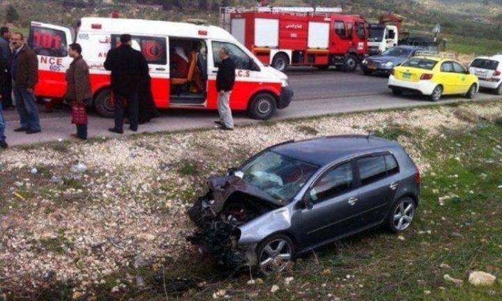 مصرع مواطن واصابتان في حادث سير ذاتي شرق طولكرم