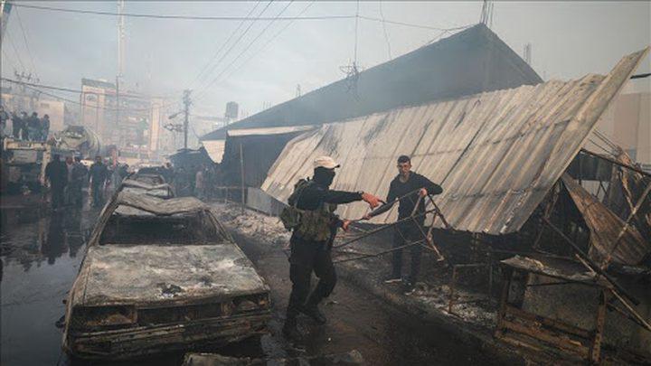 ارتفع عدد ضحايا حريق النصيرات لـ 21