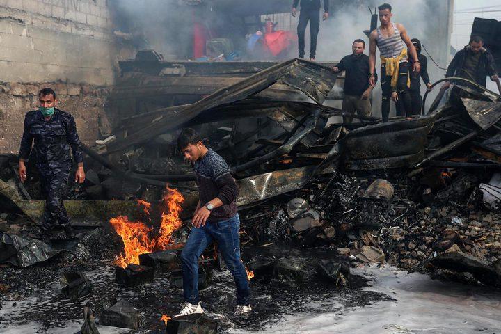 ارتفاع عدد ضحايا حريق النصيرات إلى 22 مواطنا في غزة