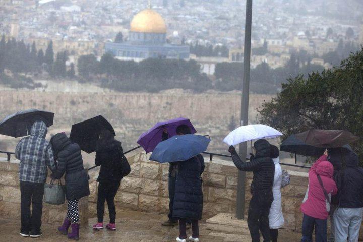 طقس فلسطين اليوم: أمطار غزيرة وأجواء شديدة البرودة
