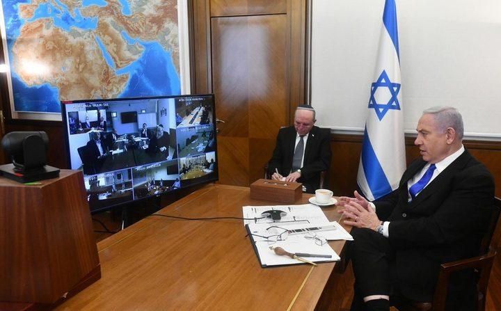 إلغاء اجتماع حكومة الاحتلال الإسرائيلية الأسبوعي بسبب كورونا