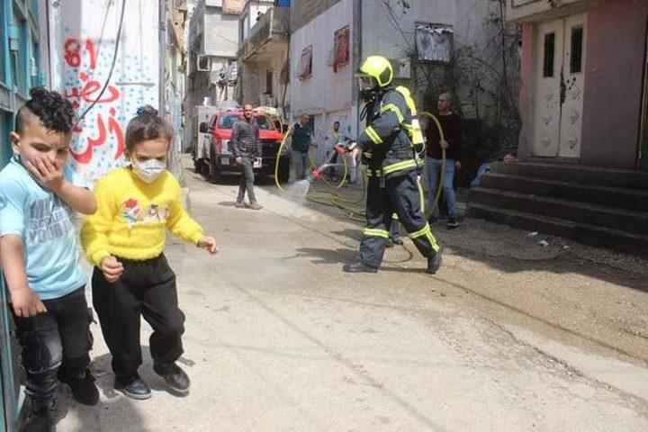 شاهد حملة تعقيم شوارع مدينة أريحا منعا لتفشي فيروس كورونا