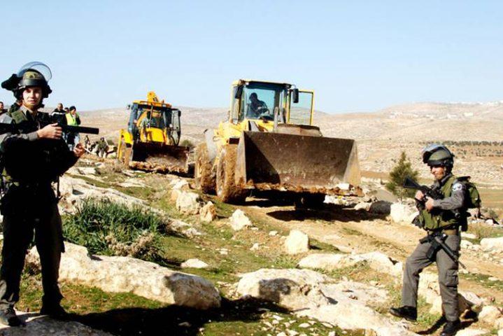قوات الاحتلال تخطر بإزالة أشجار من المسعودية شمال نابلس