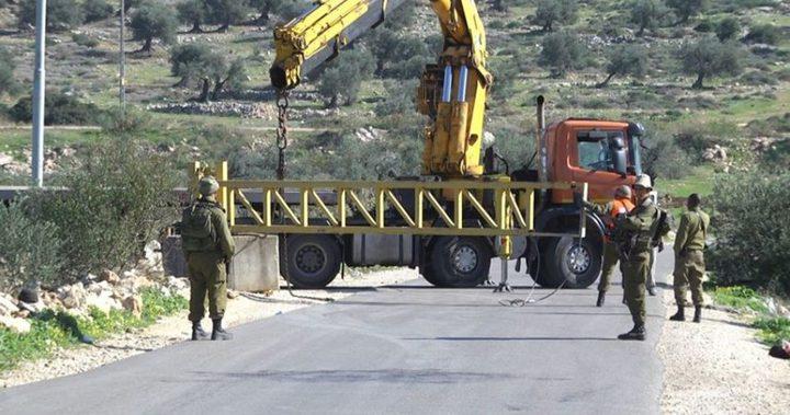 الاحتلال يغلق طرقا زراعية جنوب شرق طولكرم