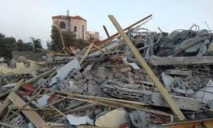 قوات الاحتلال تهدم ثلاثة منازل قيد الإنشاء غرب جنين