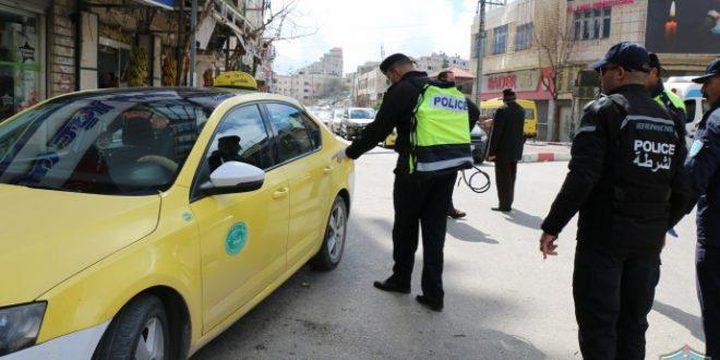 ضبط 40 مركبة لعدم التزام أصحابها بإجراءات الطوارئ في الخليل