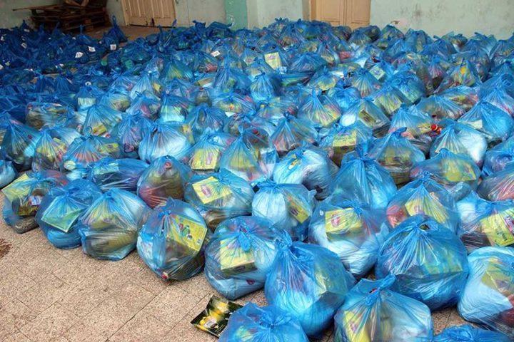700 طرد غذائي من مؤسسة الرئاسة إلى مخيمات بيت لحم