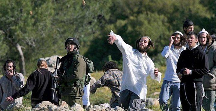 لجان الطوارئ في سلفيت تمنع مستوطنين من دخول أراضي قراوة بني حسان