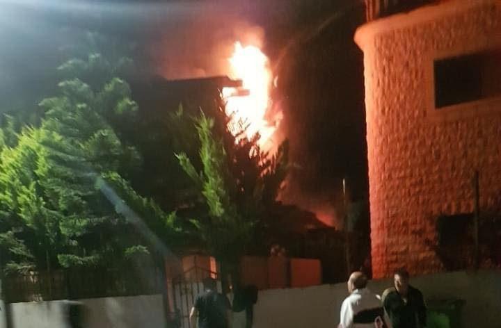 إصابتان بحريق في كفر كنا