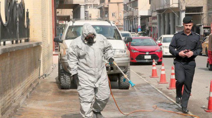 """تعقيم 51 مليون متر مربع للوقاية من""""فيروس كورونا"""" في العراق"""