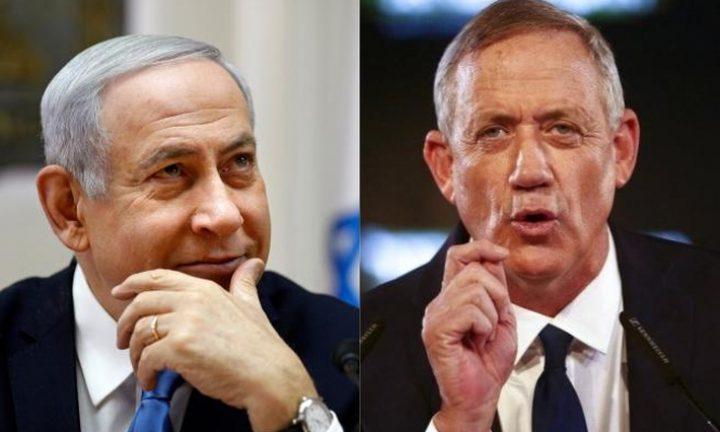 استئناف المفاوضات بين نتنياهو وغانتس لتشكيل حكومة الاحتلال