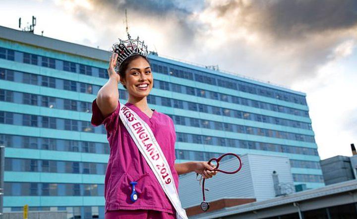 ملكة جمال انجلترا تعود إلى عملها في الطب لإنقاذ مرضى كورونا