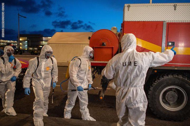 """اسبانيا:523 وفاة جديدة بـ""""كورونا""""خلال آخر 24 ساعة"""