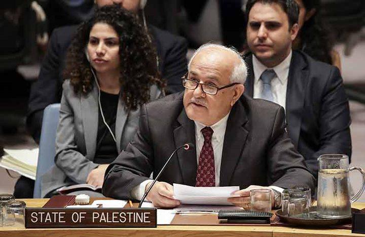 """منصور: """"إسرائيل"""" تستغل انشغال العالم بـ""""كورونا"""" لترسيخ احتلالها"""