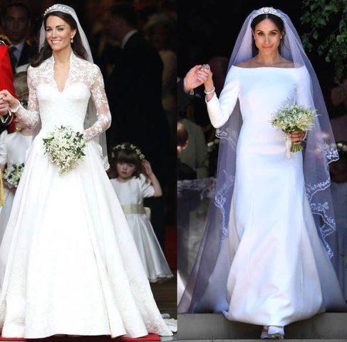 كشف رسالة خبأها فستان زفاف ميغان وكيت