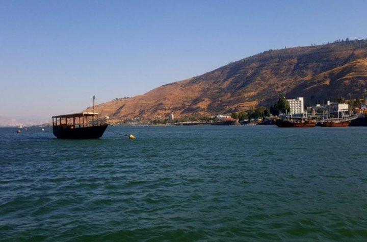 ارتفاع منسوب المياه في بحيرة طبريا
