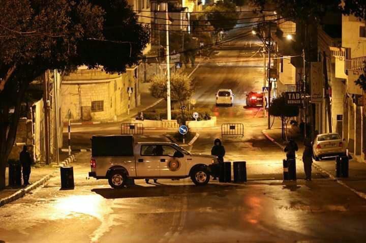 اصابة أحد أفراد الأمن الوطني على حاجزفي بيت جالا