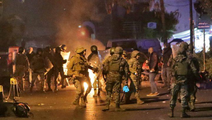 عودة المواجهات بين الجيش والمحتجين في لبنان