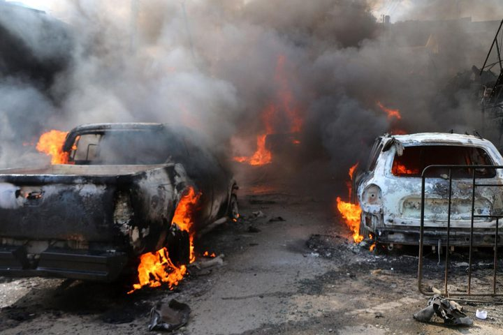 مصرع 40 مدنيا في تفجير ببلدة عفرين شمال سوريا