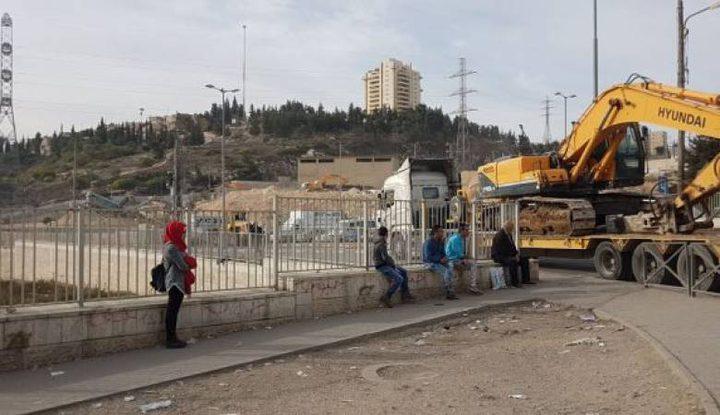 قوات الاحتلال تجرف مغسلة مركبات جنوب بيت لحم