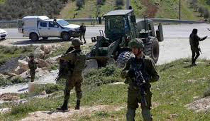 الاحتلال يجرف مشتلا زراعيا في قرية الشمعة