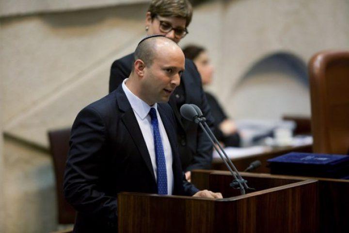 بينت: سأدعم مشروع ضم الضفة رغم بقائي في المعارضة