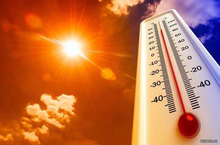 الطقس: أجواء حارة و الحرارة أعلى من معدلها العام بـ12 درجة