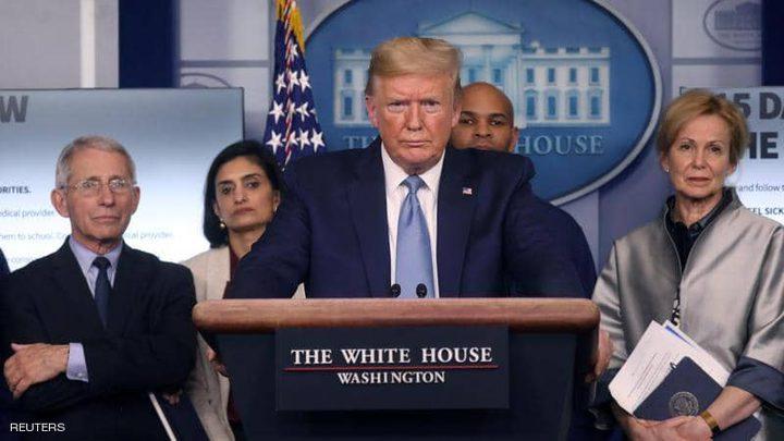 """ترامب: تصدر أمريكا قائمة الدول الأكثر تضرراً بكورونا """"وسام شرف"""""""