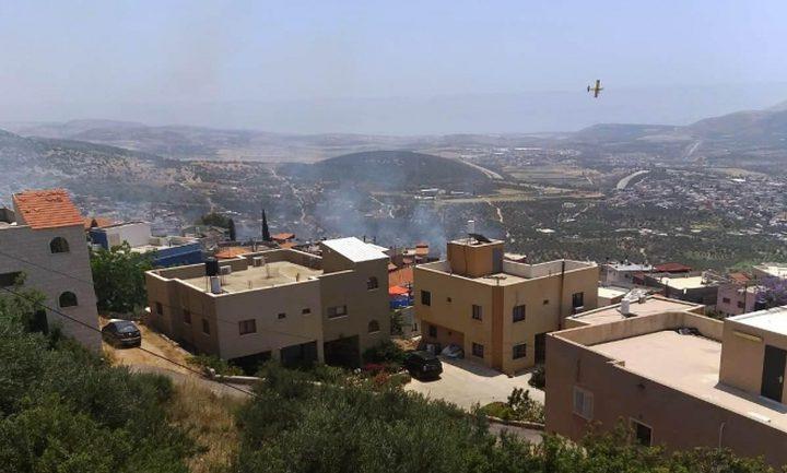 نشوب حريق في 4 منازل بسبب الحر الشديد في قرية المغار