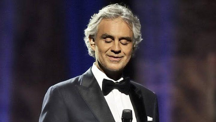 مغني الأوبرا أندريا بوتشيلي يتبرع بالبلازما بعد الشفاء من كورونا