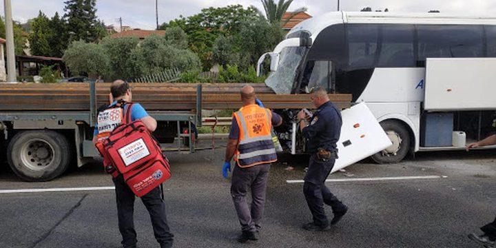 مصرع سائق حافلة بحادث طرق قرب مفرق قرية عرعرة