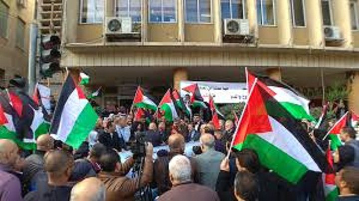 وقفة ضد قرار الضم ودعما لقرارات القيادة في نابلس