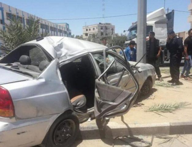 وفاة طفل واصابات بحادث سير وسط قطاع غزة