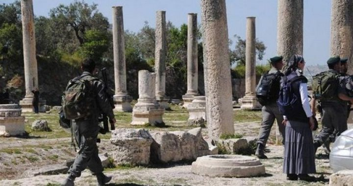 قوات الاحتلال تقتحم المنطقة الأثرية في سبسطية
