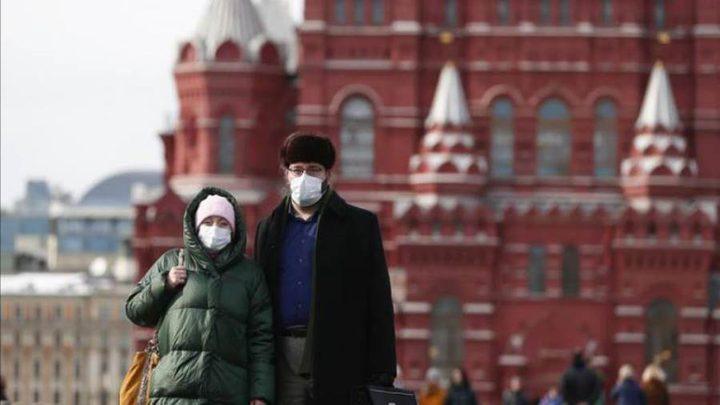 روسيا تسجل 162 وفاة و9035 إصابة جديدة بفيروس كورونا