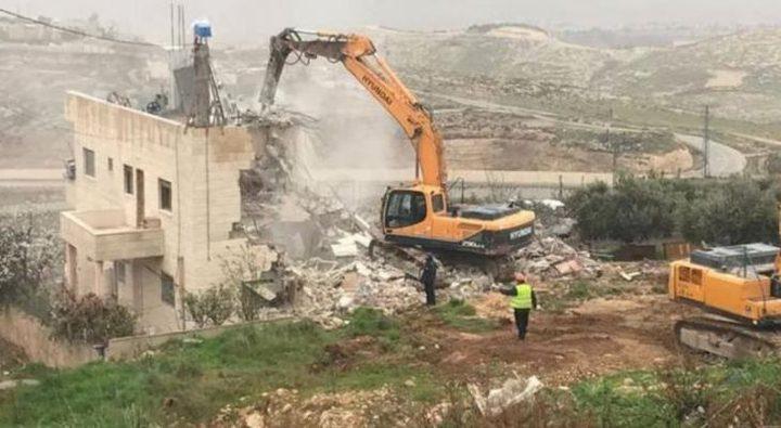 هدم منزلفي سلوان جنوب القدس المحتلة