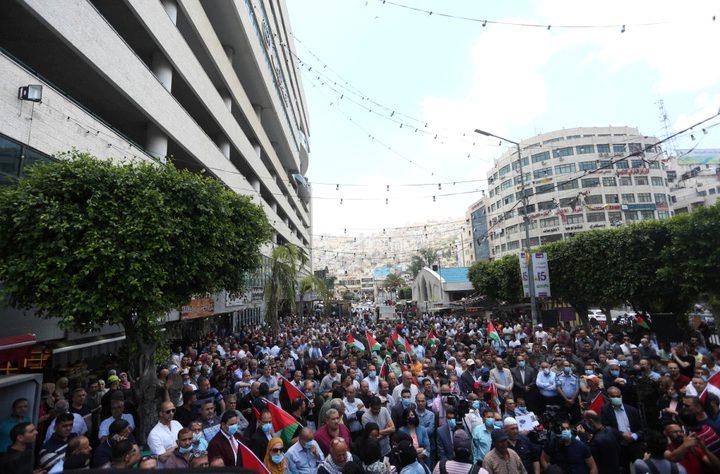 نابلس:مهرجان جماهيري للتأكيد على التمسك بالثوابت ورفضا لقرار الضم