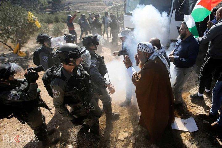 اصابات جراء قمع الاحتلال لمسيرات سلمية منددة بقرار الضم في الضفة