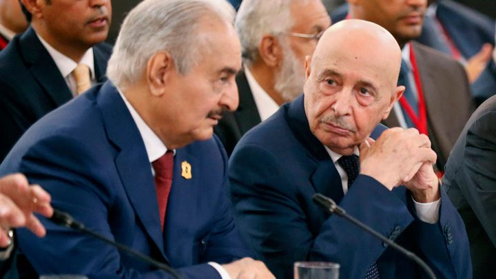 """حفتر يطلب """"إلزام تركيا"""" بوقف نقل المسلحين إلى ليبيا"""